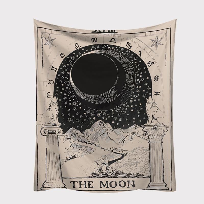 Tarot card wall tapestry in 2020 the moon tarot card