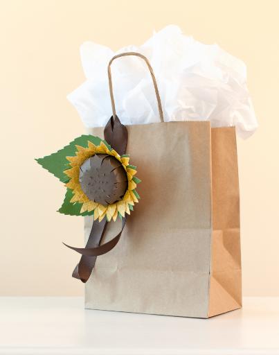 3d Floral Home Decor Cricut Cartridge Sunflower Gift Bag Tag