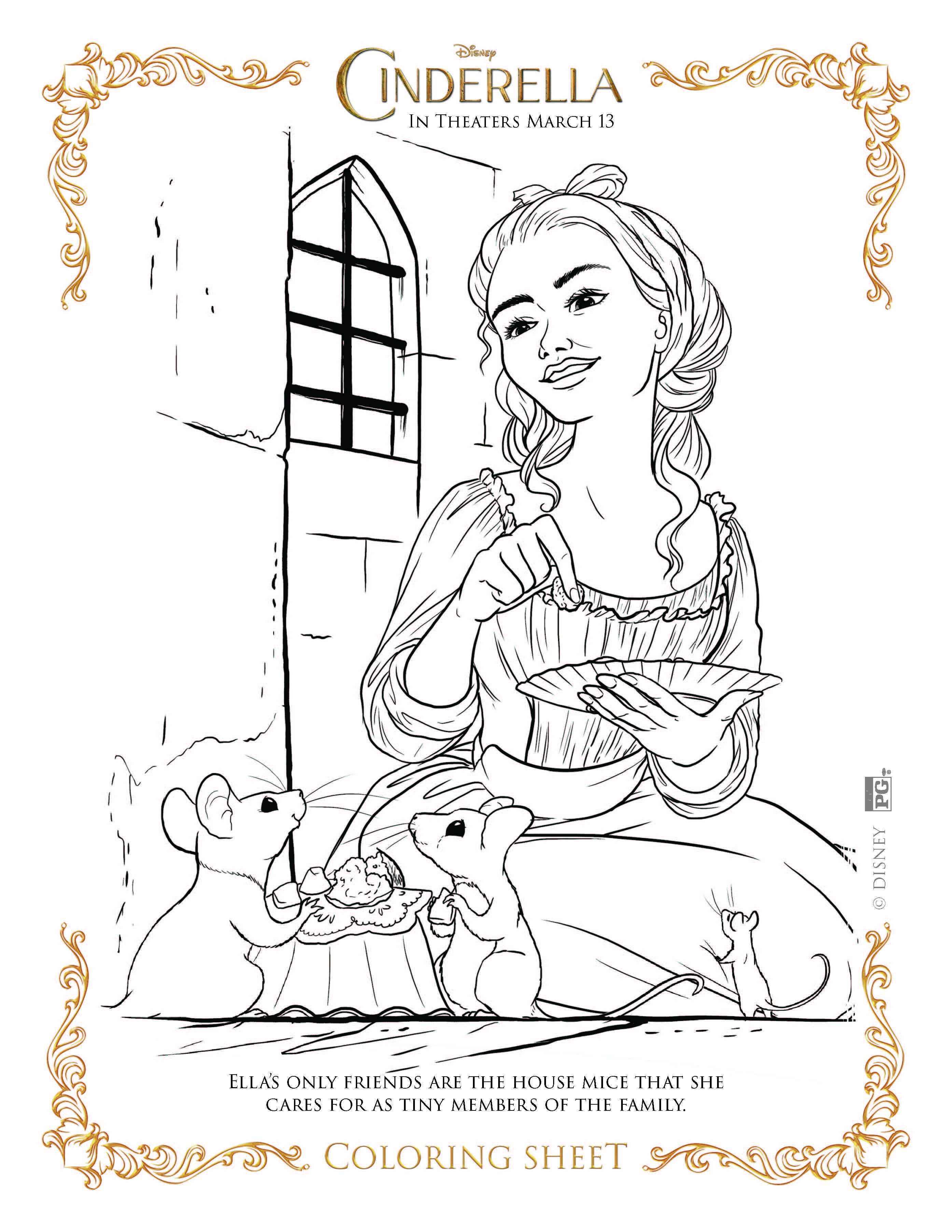 Cinderella coloring pages free printables for your kids free