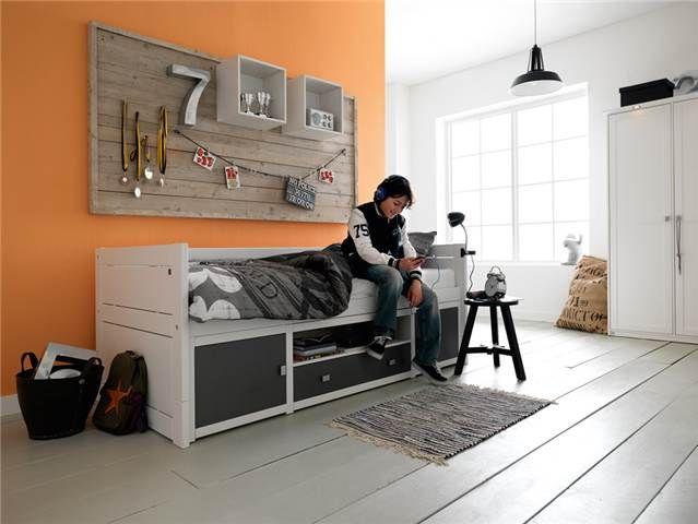 Deuren Voor Kinderkamers : Goodnightkidzz kajuitbed deuren en lades in accentkleuren