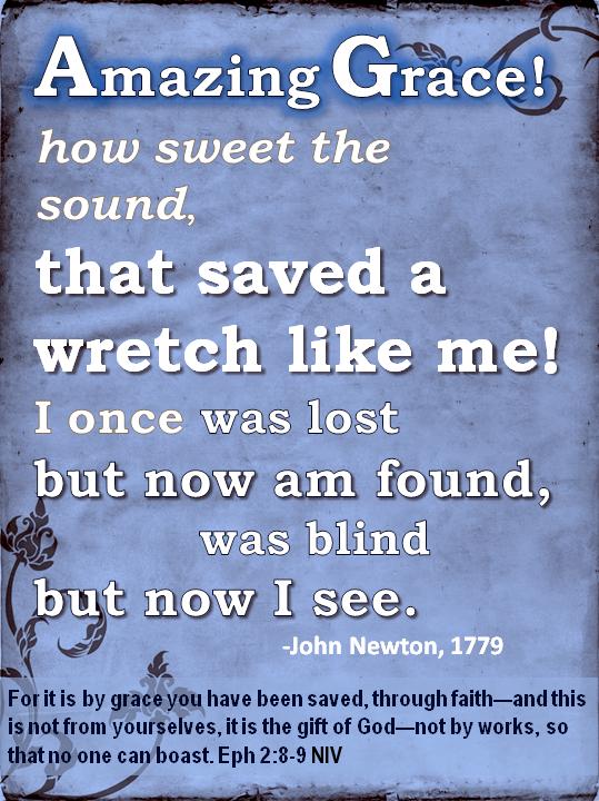 Amazing Grace How Sweet the Sound Devotions Ephesians Bible Verse Grace Faith Gift