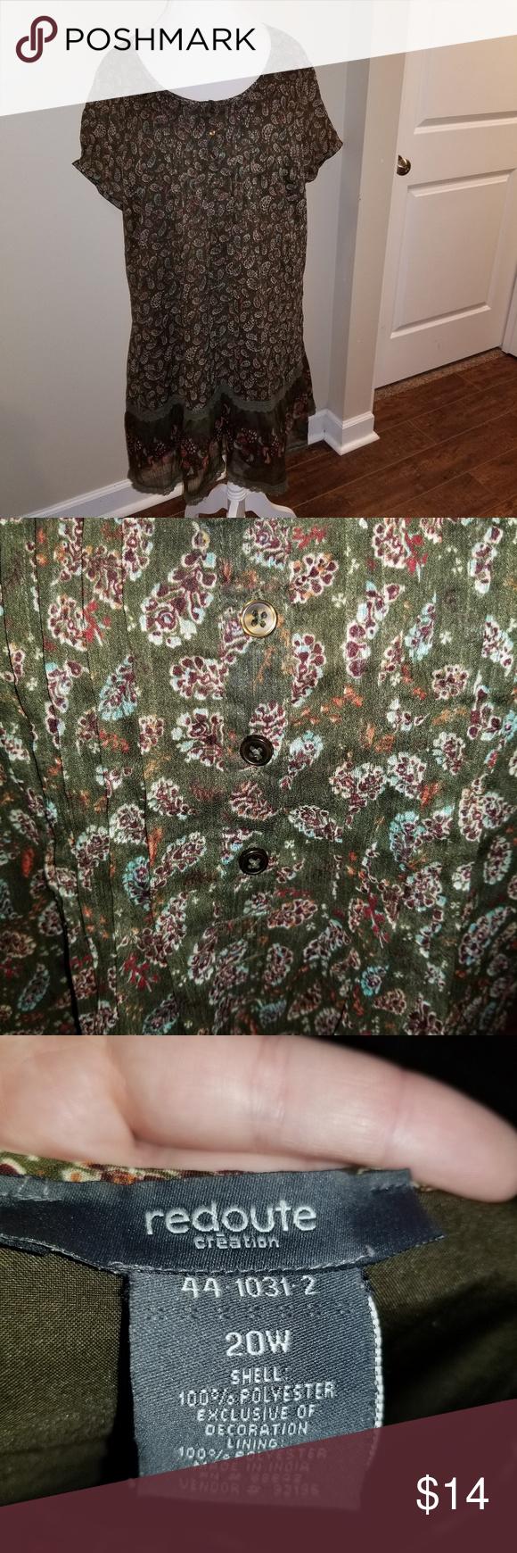 Plus size flowy dress beautiful flowy olive green dress from redoute
