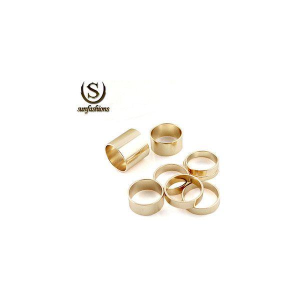Sunfashion 2015 Hot Sale grátis frete moda múltipla ouro anéis Anel do... ❤ liked on Polyvore