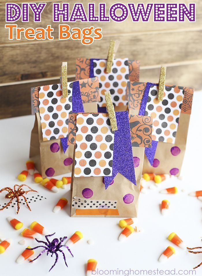 These Diy Treat Bags Are So Cute And You Can Assemble Them In Minutes Such A Idea Easy Party Favors