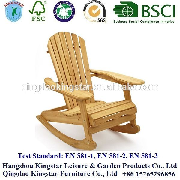 rocking wood adirondack chair