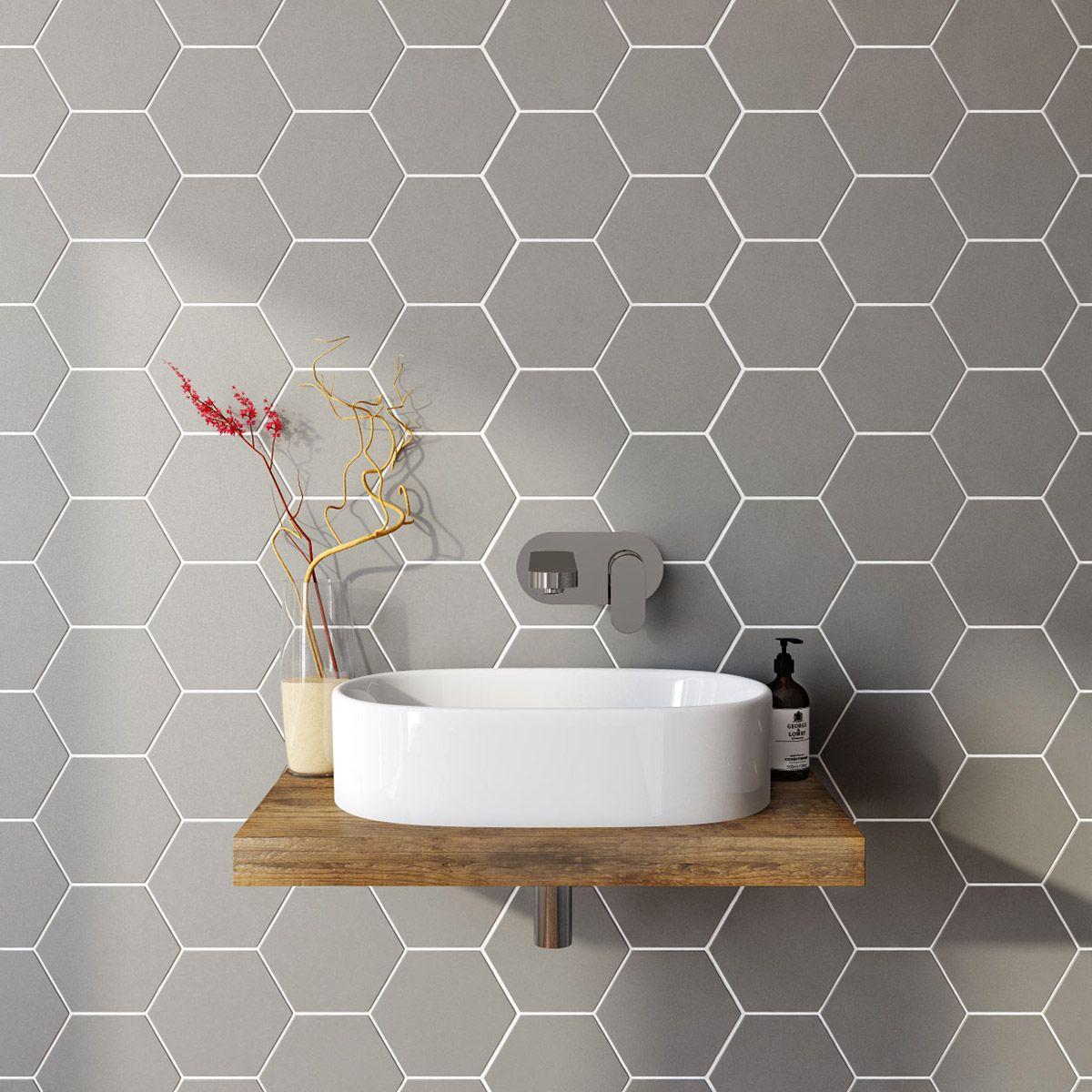 Gray Marble Hex Floor Tile Design Ideas black hex tile bathroom floor