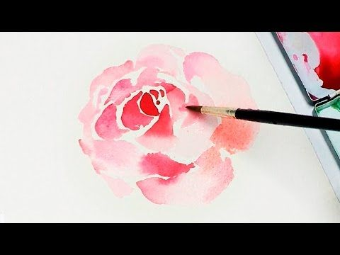Lvl2 Painting Easy Simple Flowers Watercolor Painting For Beg