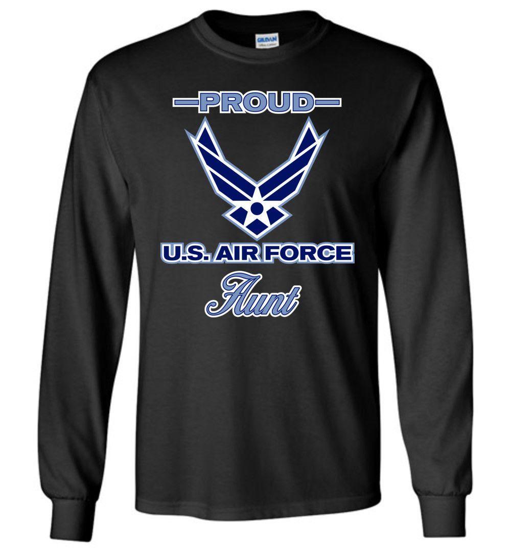 Orgogliosa Aviazione Zia Manica Lunga T-shirt LHayfT5