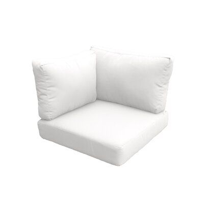 Photo of TK Classics Indoor/Outdoor Replacement Cushion Set Fabric: Quick – Dry Foam/Acrylic in White, Size 17″ H x 26.5″ W x 26.5″ D   Wayfair