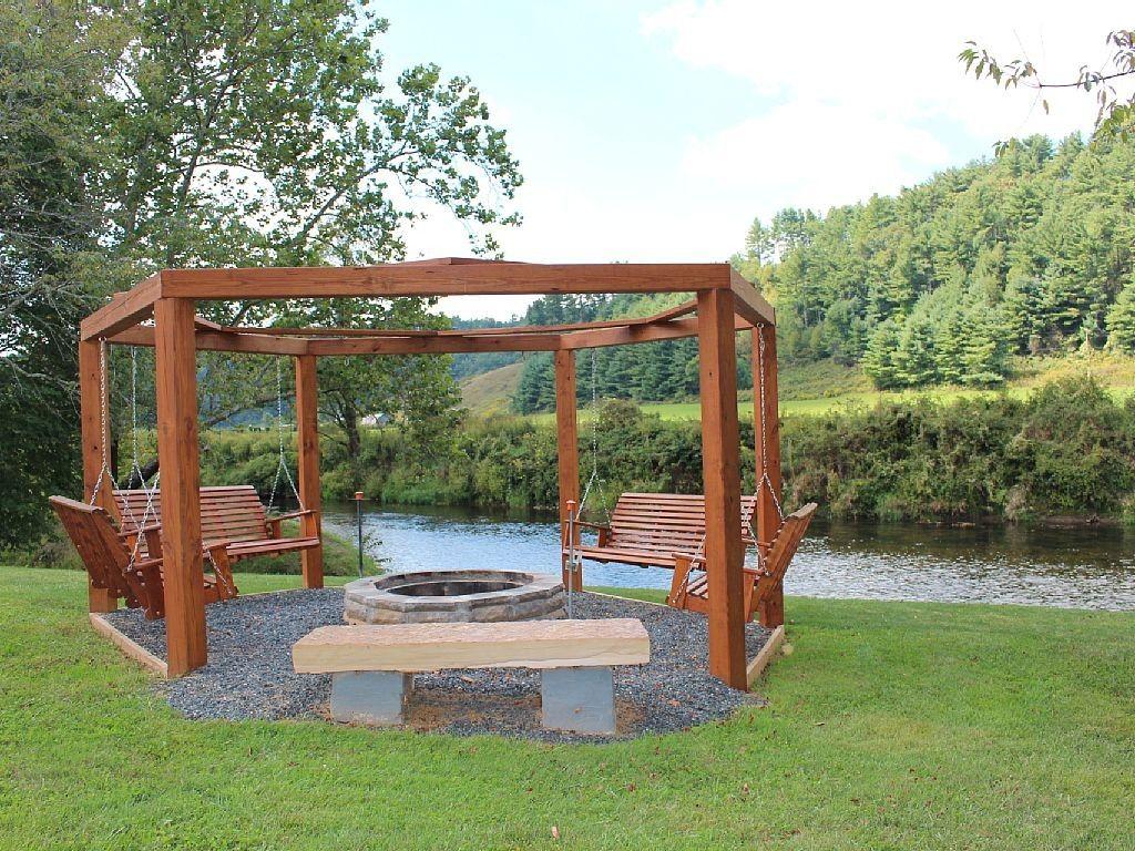 10+ Wonderful Porch Swing Fire Pit Ideas - 10+ Wonderful Porch Swing Fire Pit Ideas Swings Fire Pits And
