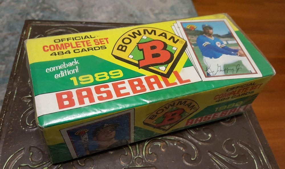 1989 bowman official complete set 484 baseball cards