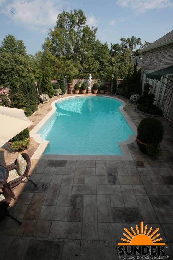 Resurface Concrete Pool Deck White Border With Tuscan
