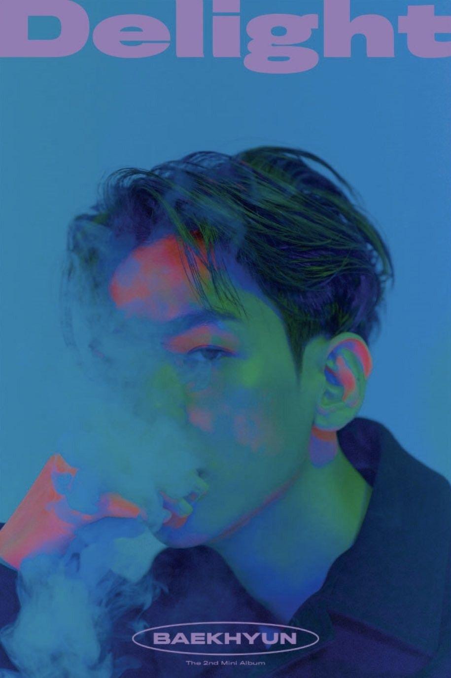 BAEKHYUN 2nd mini album 'Delight' - cinnamon ver kihno poster | Baekhyun,  Mini albums, Kpop posters