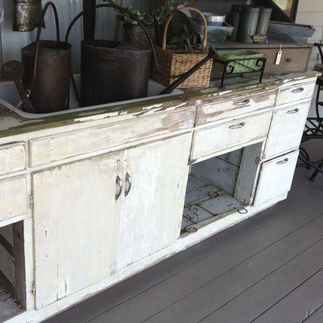 Kitchen Cabinet Salvage: Salvaged Kitchen Cabinets And Sink.
