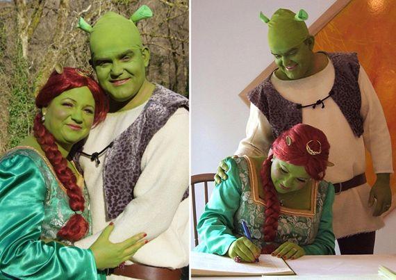Shrek Wedding Geeky Wedding Shrek Wedding Shrek And Fiona Costume