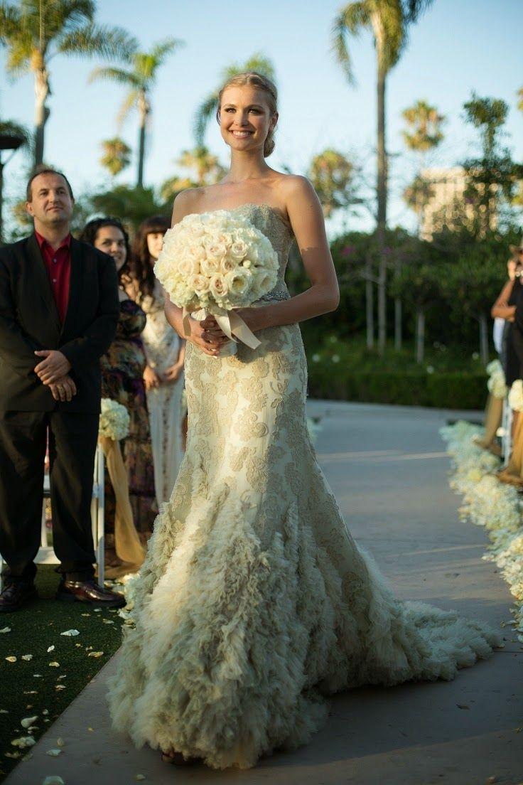 Green wedding dress colored wedding dress ruffled wedding
