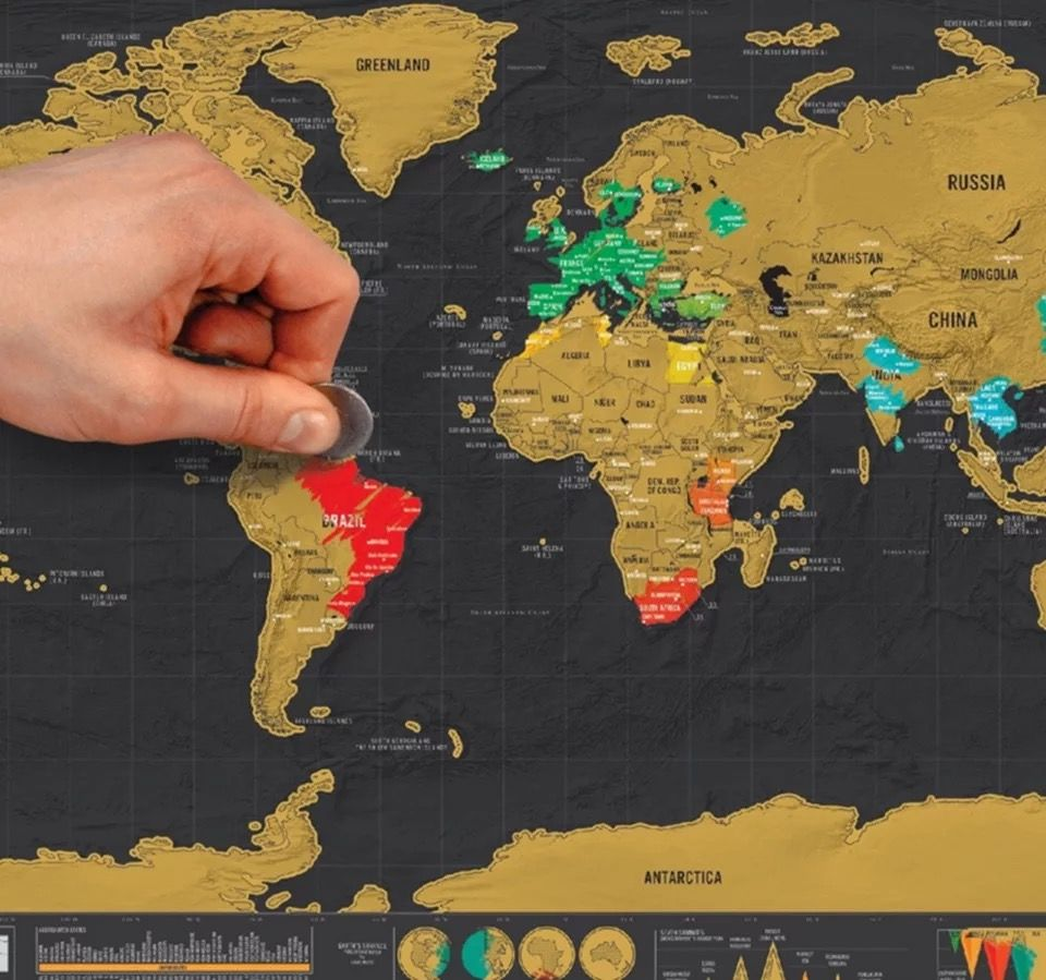 New deluxe travel edition scratch off world map poster personalized new deluxe travel edition scratch off world map poster personalized journal map can customized paper vintage gumiabroncs Gallery