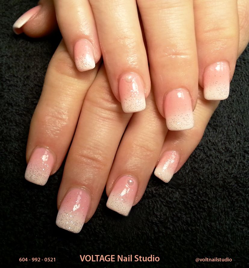 Faded French Manicure on Hard Gel Nails | Nails | Pinterest | Faded ...