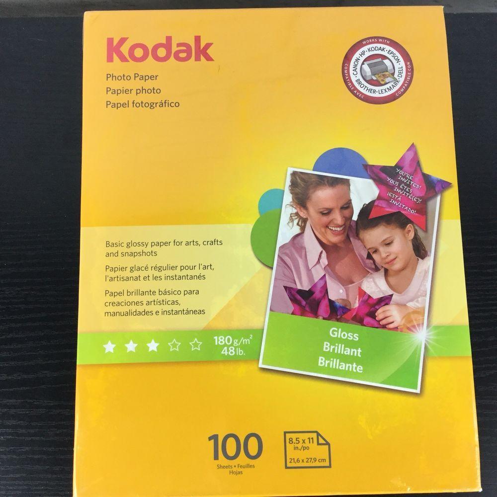 Kodak Inkjet Glossy Photo Paper 85 X 11 100 Sheets Kodak Ebay