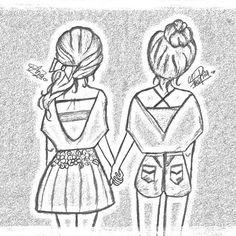 cute easy best friend drawings - Google Search