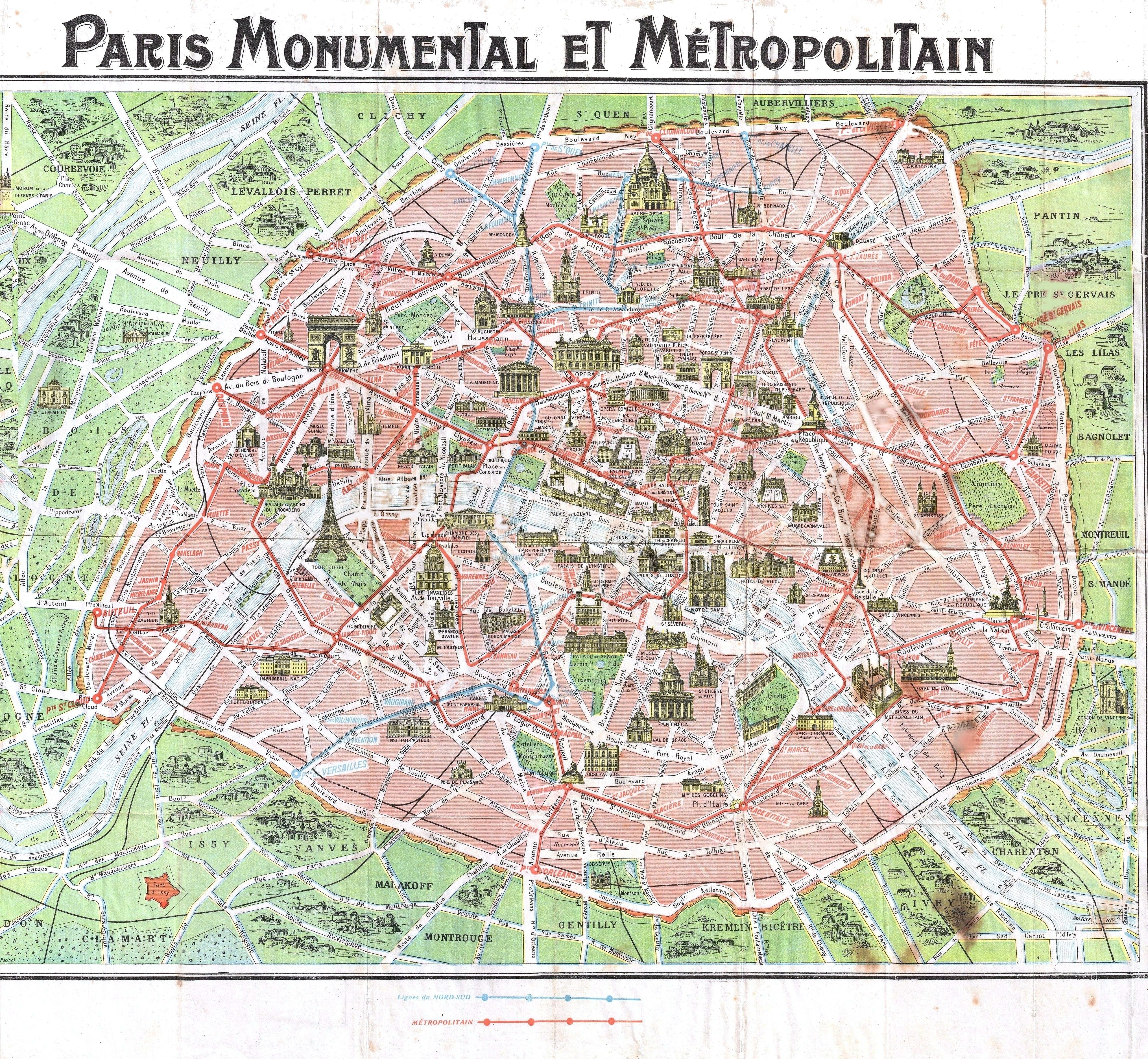 paris map free printable