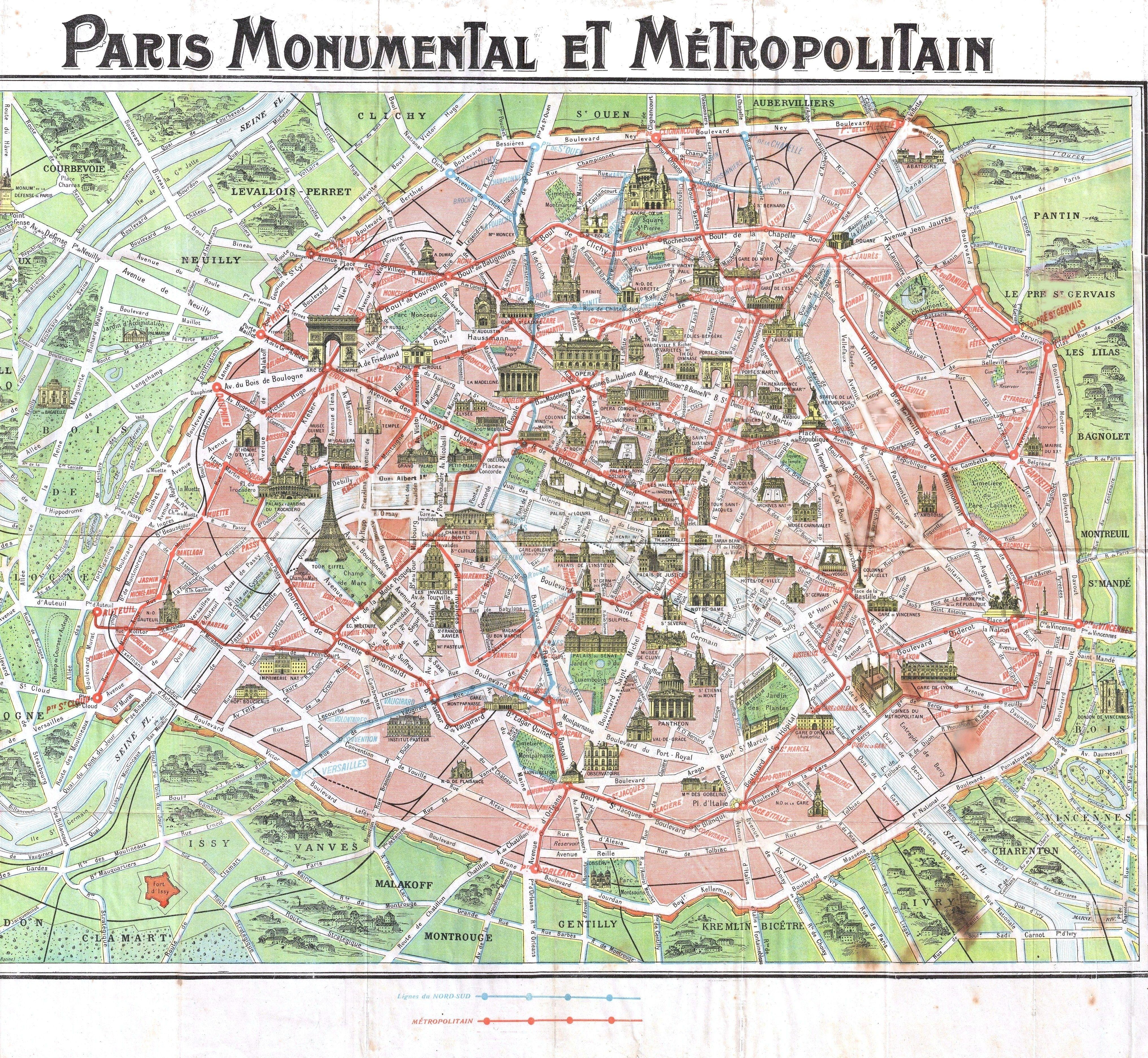Paris Map - free printable