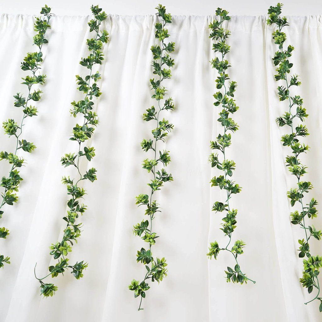 Pack of 2 | 5 FT Dark & Light Green Artificial Leaf Garland