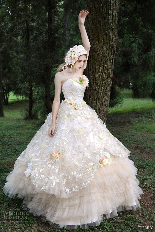 Tiglily Spring Summer 2015 Wedding Dresses Wedding Inspirasi Wedding Dresses Strapless 2015 Wedding Dresses Ball Gowns Wedding