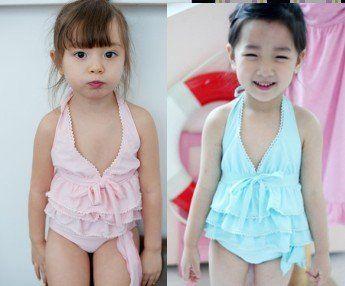 Baby-Girls-Ruffle-Halter-Bikini-Swimsuit-bathsuit-beachwear
