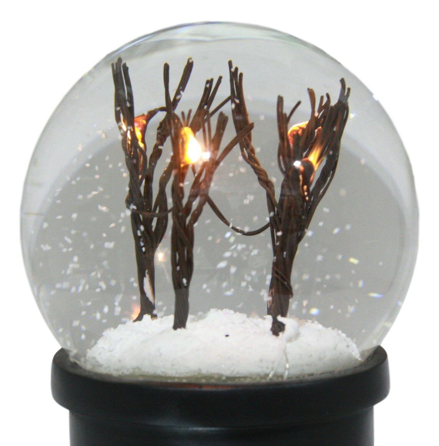 Snowy Windy Christmas Barren Winter Trees Night Scene ...