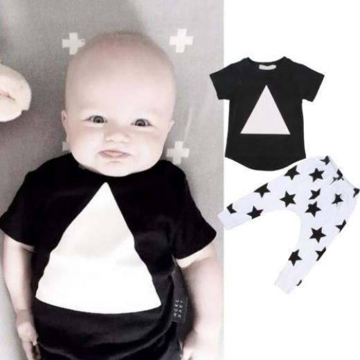 Cute Toddler Newborn Kids Baby Boys Girls Cotton Warm Clothing T-shirt Tops