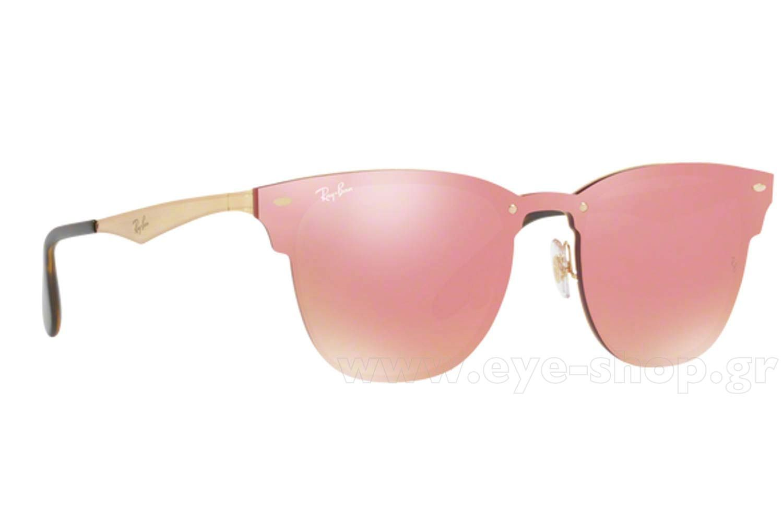 fb9e8f2608 Γυναικεία Γυαλια Ηλιου Rayban 3576N Blaze Clubmaster 043 E4 σε χρώμα χρυσό  brushed Γυναικεία ροζ