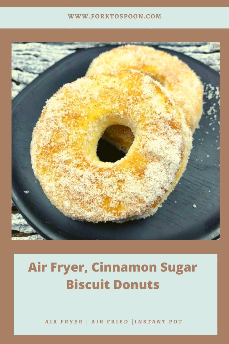 Air Fryer, Cinnamon Sugar Biscuit Donuts Recipe in 2020