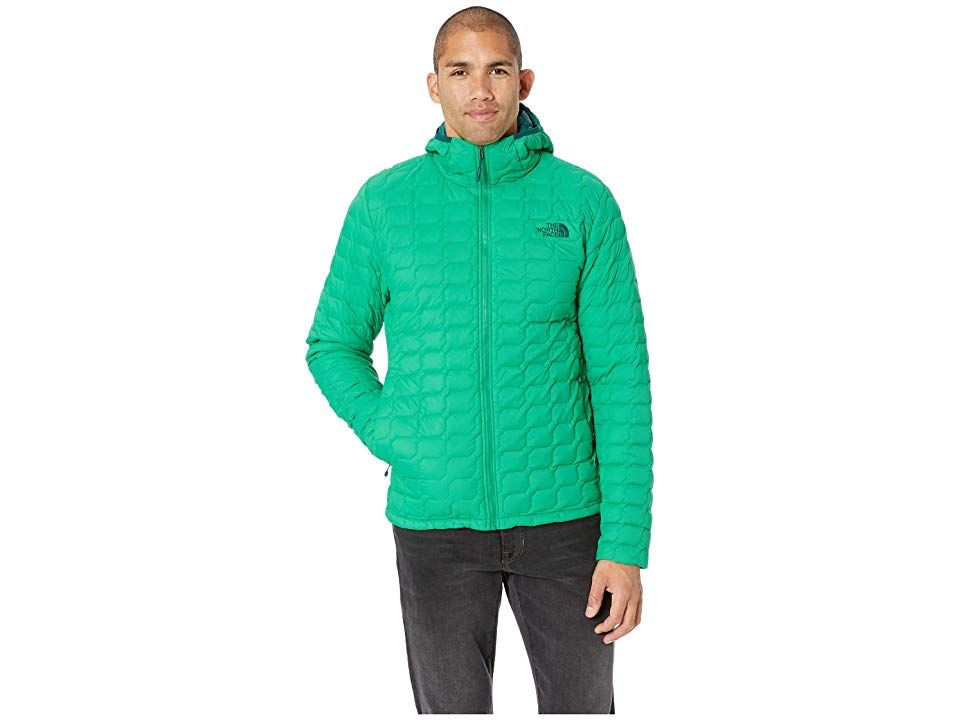 a63d52692a The North Face Thermoball Hoodie (Primary Green Matte) Men's Coat. A  lightweight insulated hoodie that packs down into its own hand pocket  making it perfect ...