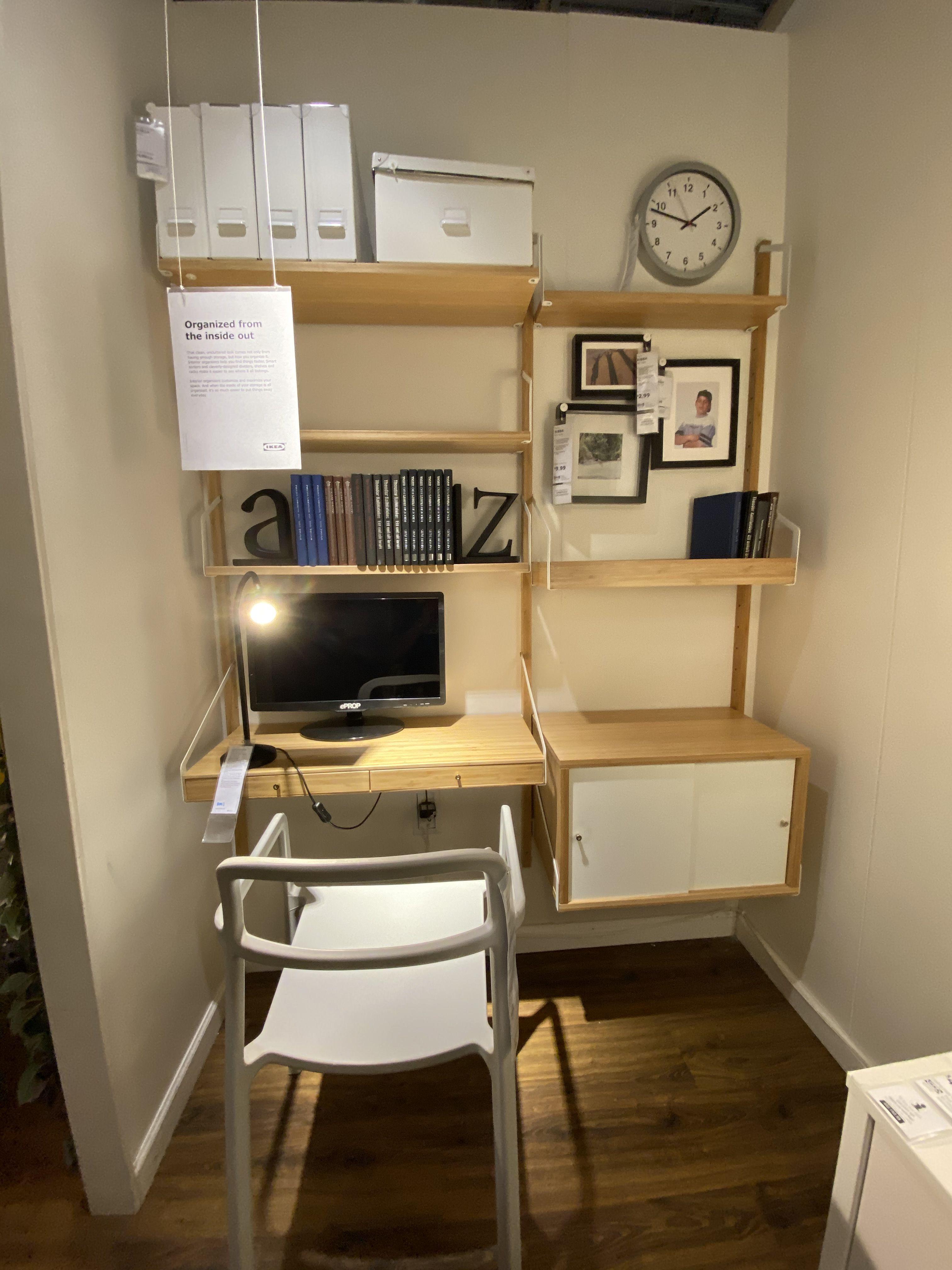Workspace in 2020 Space saving desk, Ikea furniture
