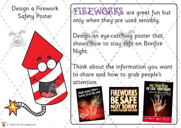 Teachers Pet Firework Safety Poster Premium Printable