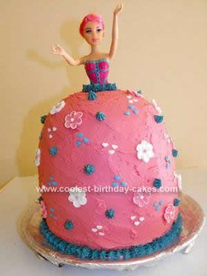 Coolest Barbie Princess Cake Barbie princess Princess and Homemade