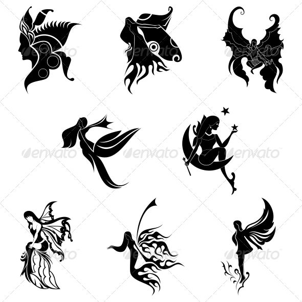 Tribal Angel Abstract Designs Outline Art Vintage Tattoo Design Abstract Design