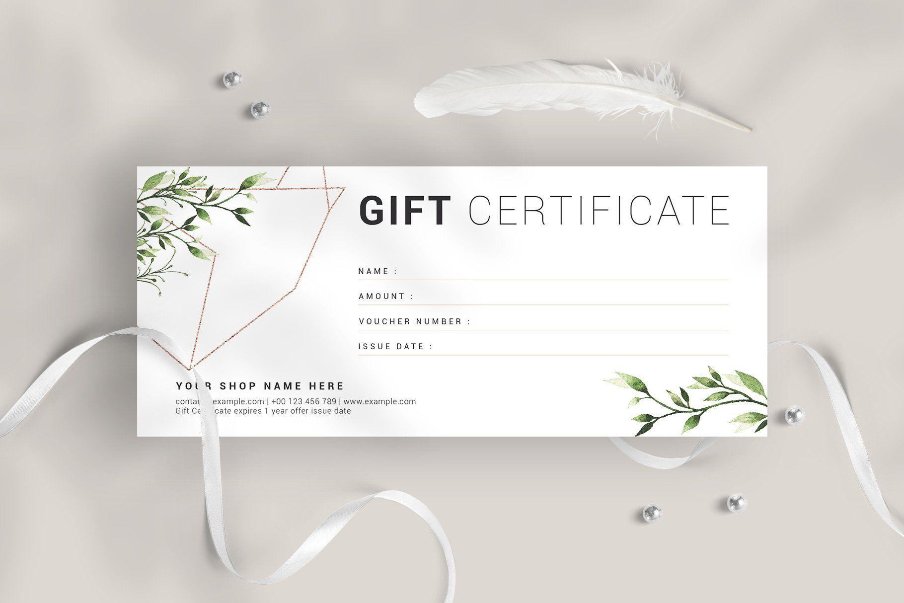 Gift Certificate Gift Voucher Design Voucher Design Gift Certificate Template