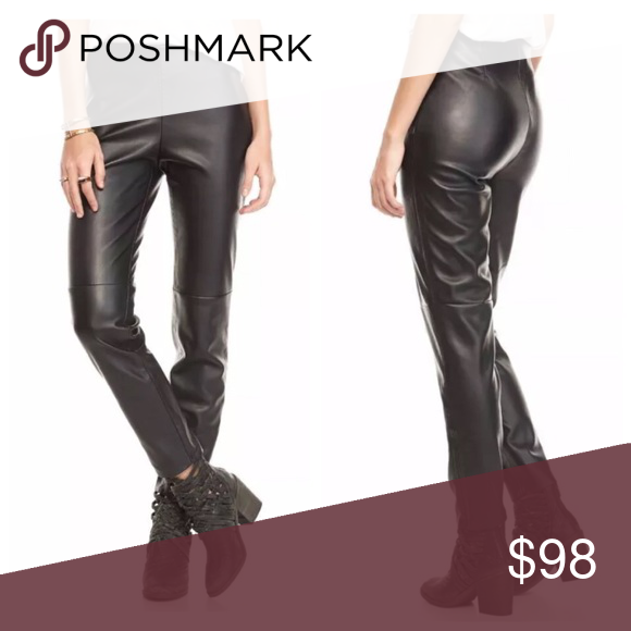 Free People Vegan Leather Ankle Zip Leggings Brand New Ankle Zippers And Some Stretch To Them Fre Leggings Are Not Pants Ankle Zip Leggings Free People Pants