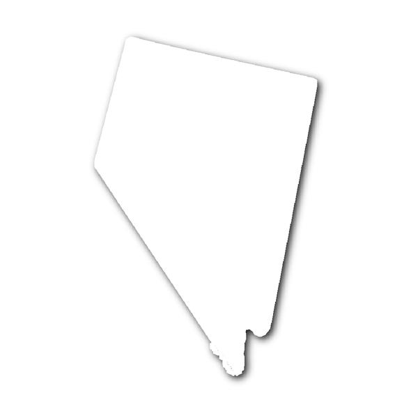 Nevada State Shape Sticker Outline White State Shapes Nevada State Nevada