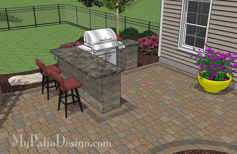 690 Sq. Ft. Of Outdoor Living Space. Curvy Design Creates Beautiful Areas  For