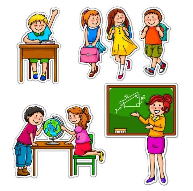 los niños de dibujos animados ilustración vectorial | Niños ...
