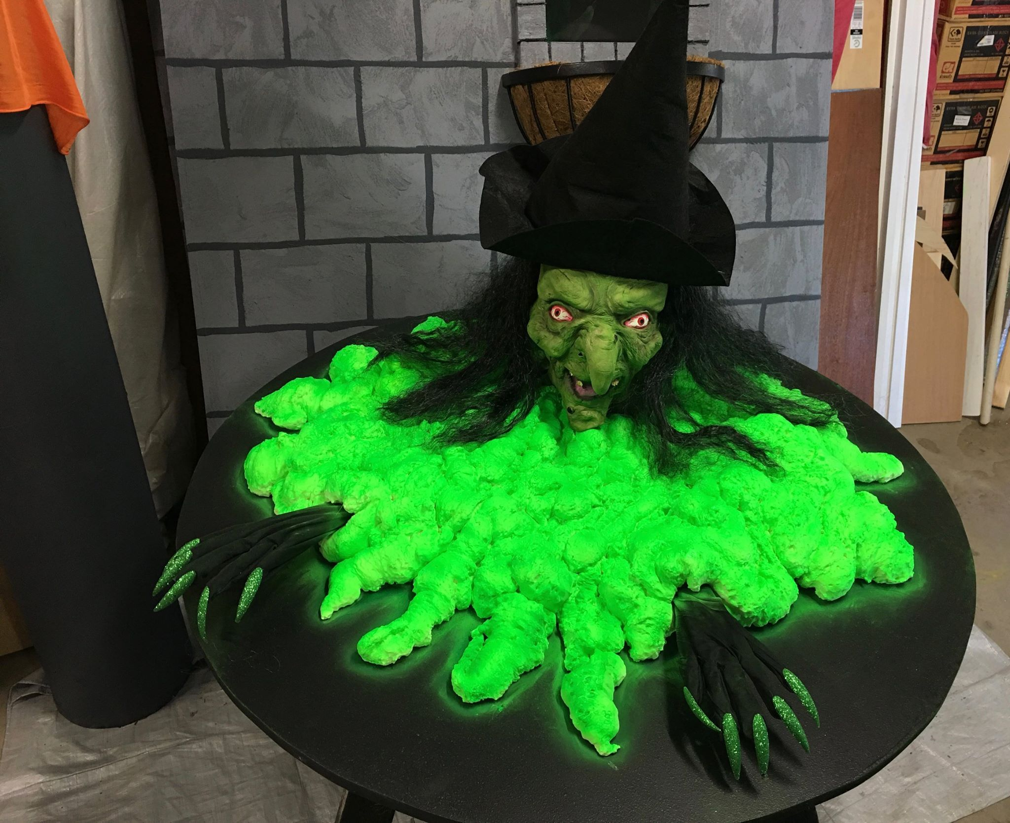 Made by a Brisbane Halloween enthusiast She used exploding foam - glow in the dark halloween decorations