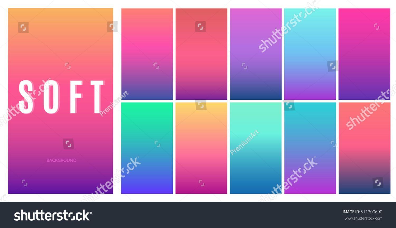 Soft Color Background Design Creative Gradient Set For Greeting