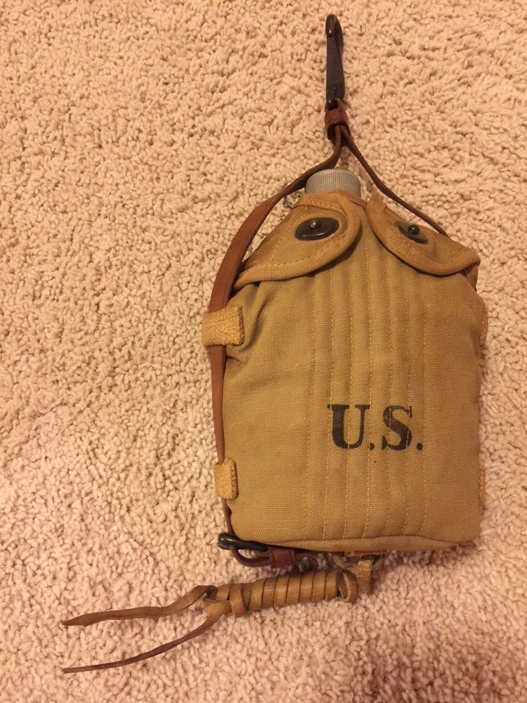 WW1 US Army Cavalry Mounted Canteen 1918 never issued
