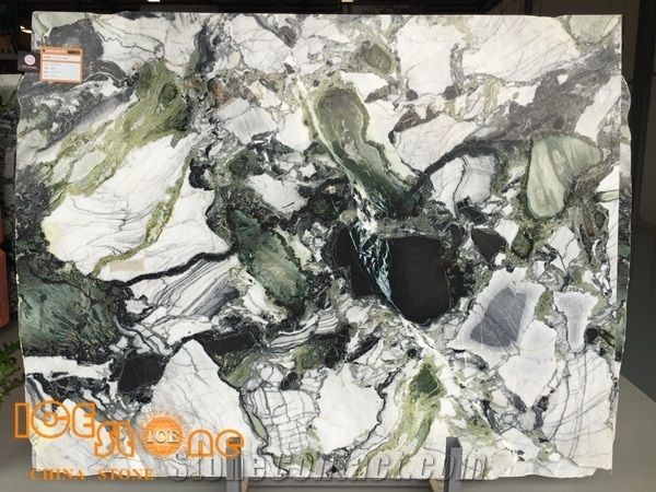 White Beauty/Ice Connect Marble/Chinese Green /Marble Tiles/Cut To Size