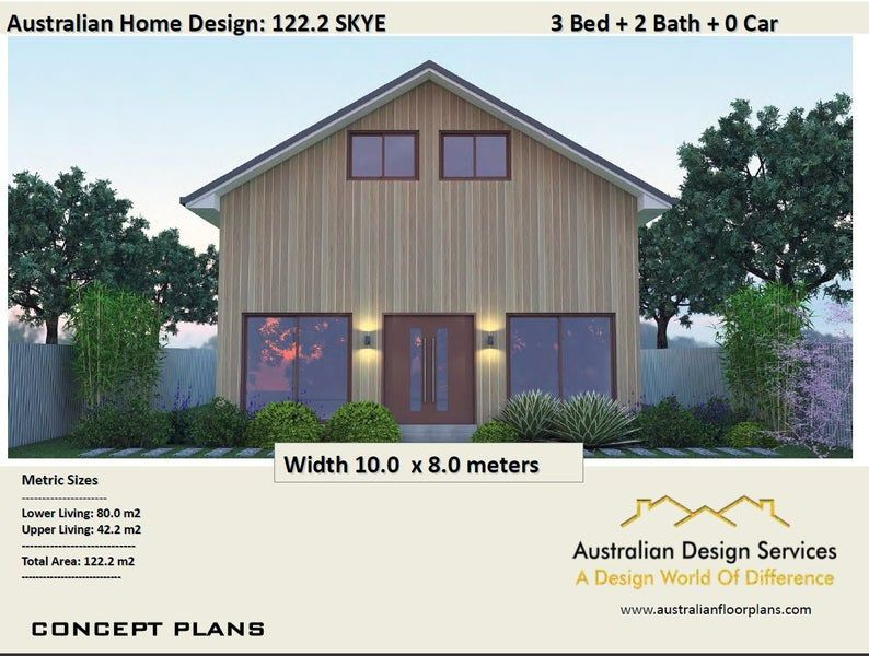 122 2 M2 Barn Style House Plan 3 Bed Australian House Etsy In 2020 Barn Style House Barn Style House Plans House Plans For Sale