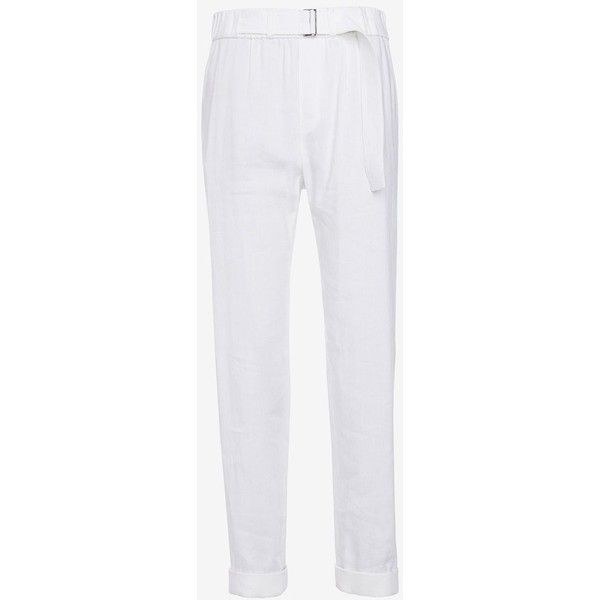 Vince Belted Linen Pant: White ($99) ❤ liked on Polyvore featuring pants, white, relaxed pants, faux pants, white cargo pants, cargo trousers and relaxed fit cargo pants