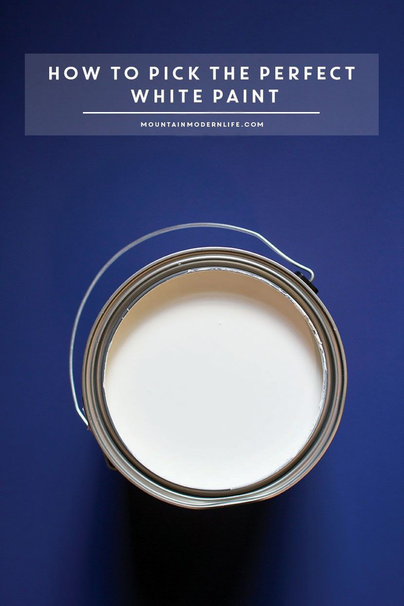 How to Pick the Perfect White Paint